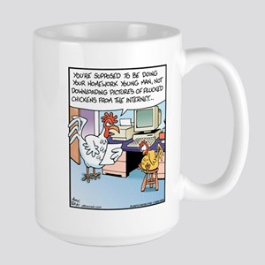 Download Plucked Chickens Large Mug