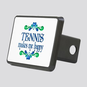 Tennis Makes Me Happy Rectangular Hitch Cover