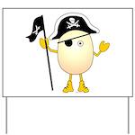 Pirate Egghead Yard Sign