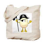 Pirate Egghead Tote Bag