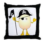 Pirate Egghead Throw Pillow