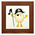 Pirate Egghead Framed Tile