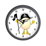 Pirate Egghead Wall Clock