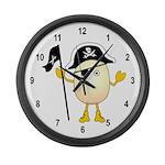 Pirate Egghead Large Wall Clock