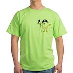 Pirate Egghead Pocket Image Green T-Shirt