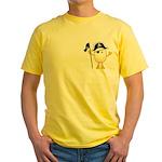 Pirate Egghead Pocket Image Yellow T-Shirt