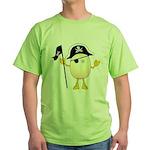Pirate Egghead Green T-Shirt