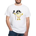 Pirate Egghead White T-Shirt