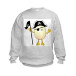 Pirate Egghead Kids Sweatshirt