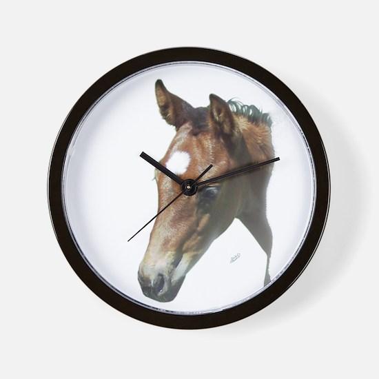 Cute American quarter horse Wall Clock