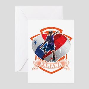 Football Worldcup Panama Panamanian Greeting Cards