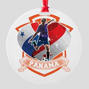Football Worldcup Panama Panamanian Round Ornament