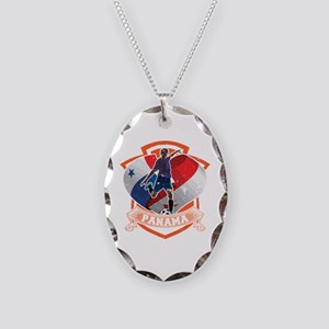 Football Worldcup Panama Panam Necklace Oval Charm