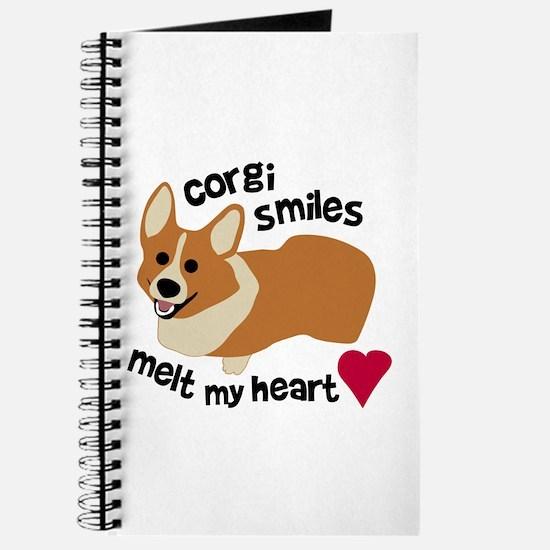 Corgi Smiles Melt My Heart Journal