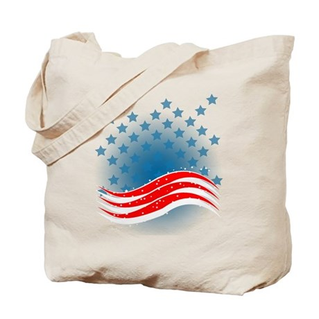 4th July - Independence Day - American Flag Tote B