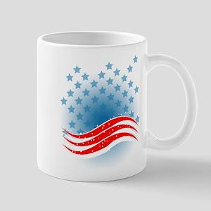 4th July - Independence Day - American Flag Mug