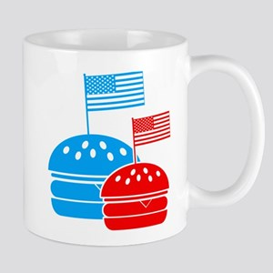 American Flag Burger Mug
