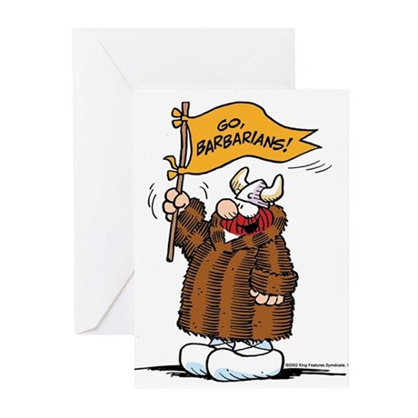 Go Barbarians! Greeting Cards (Pk of 10)