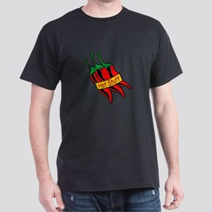 Hot Stuff Pepper (Front) Black T-Shirt