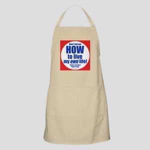Don't Tell Me BBQ Apron