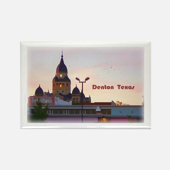 Denton Texas Rectangle Magnet