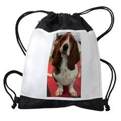 Basset Hound Drawstring Bag