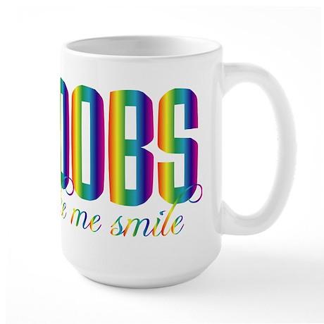Boobs Make Me Smile Large Mug