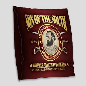 Stonewall Jackson Burlap Throw Pillow