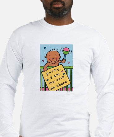 baby party-2 a.m. long sleeve new parents t-shirt