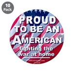"Proud American 3.5"" Button (10 pack)"