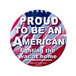 "Proud American 3.5"" Button"