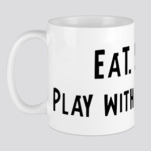 Eat, Sleep, Play with Slot Ca Mug