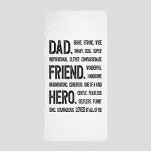 Dad Hero Beach Towel