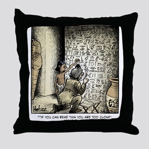 Joke Hieroglyphic Throw Pillow
