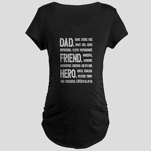 Dad Hero Maternity Dark T-Shirt