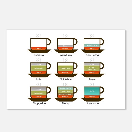 Cute Espresso Postcards (Package of 8)