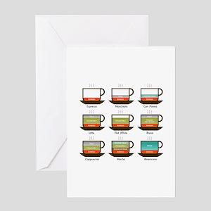 Espresso drinks Greeting Cards