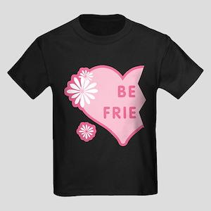 Pink Best Friends Heart Left Kids Dark T-Shirt