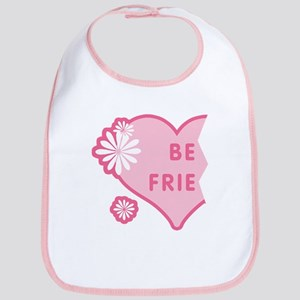 Pink Best Friends Heart Left Bib