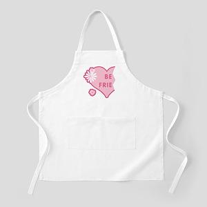Pink Best Friends Heart Left BBQ Apron