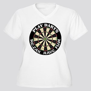 Relax Have Fun Play Darts Women's Plus Size V-Neck