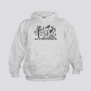 Leave Nothing but Footprints Kids Hoodie