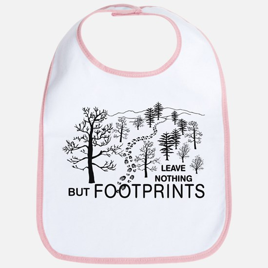 Leave Nothing but Footprints Bib