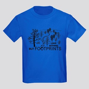 Leave Nothing but Footprints Kids Dark T-Shirt