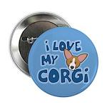 """I Love my Pembroke Welsh Corgi 2.25"""" Button"""