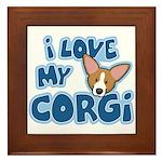 I Love my Pembroke Welsh Corgi Framed Tile