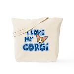 I Love my Pembroke Welsh Corgi Tote Bag
