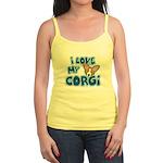 I Love my Pembroke Welsh Corgi Jr. Spaghetti Tank