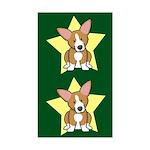 Star Kawaii Corgi Sticker (2 in 1)