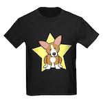 Star Kawaii Corgi Kids Dark T-Shirt